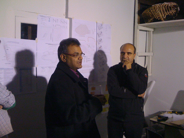HANIF KARA REVIEWING THE PROJECT